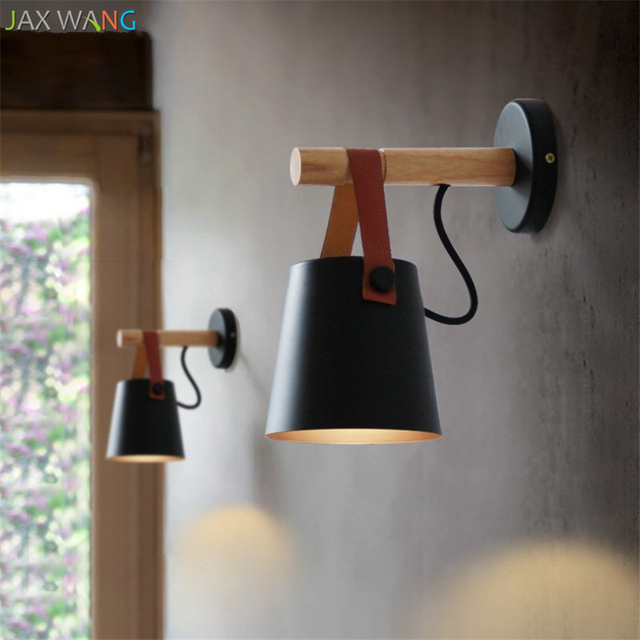 Nordic Iron Leather Belt Wall Lamp Led Lights Bedside Light Bedroom Modern Living Room Aisle Staircase Home Fixtures Decor