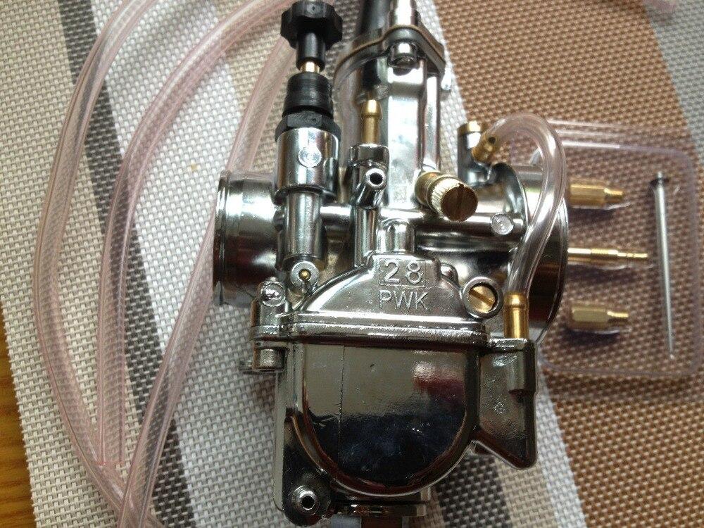 Nouveau carburateur 28mm PWK argent pour OKO Keihin carburateur carb avec Jet de puissance Fit Scooter de course