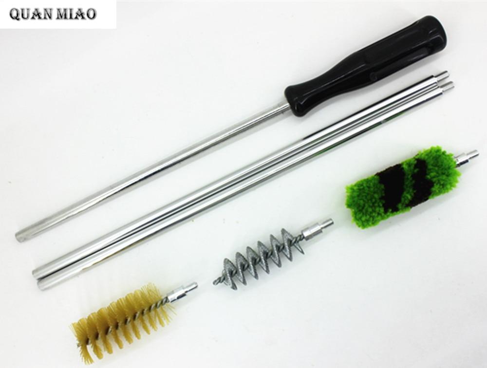 6 Pcs/ensemble En Aluminium Tige Brosse De Nettoyage Kit Pour Pistolet 12 GA Gauge Gun Chasse Tactique Fusil de Chasse Fusil De Nettoyage Brush Set Haute qualité