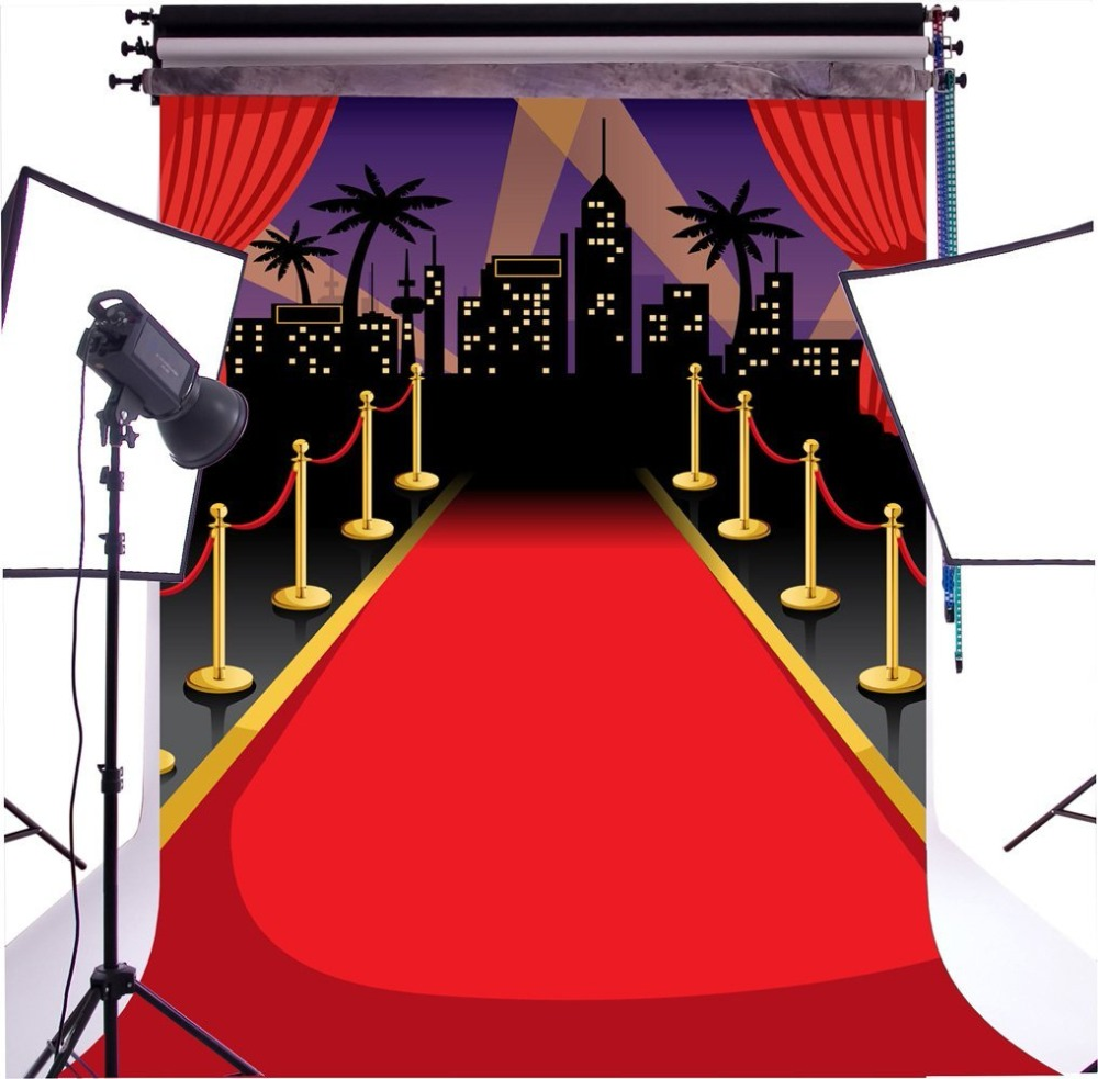 Capisco Red Carpet And Paparazzi Seamless Pictorial cloth Customized photography Backdro ...