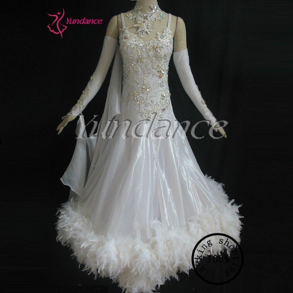 Платье с перьями для танцев