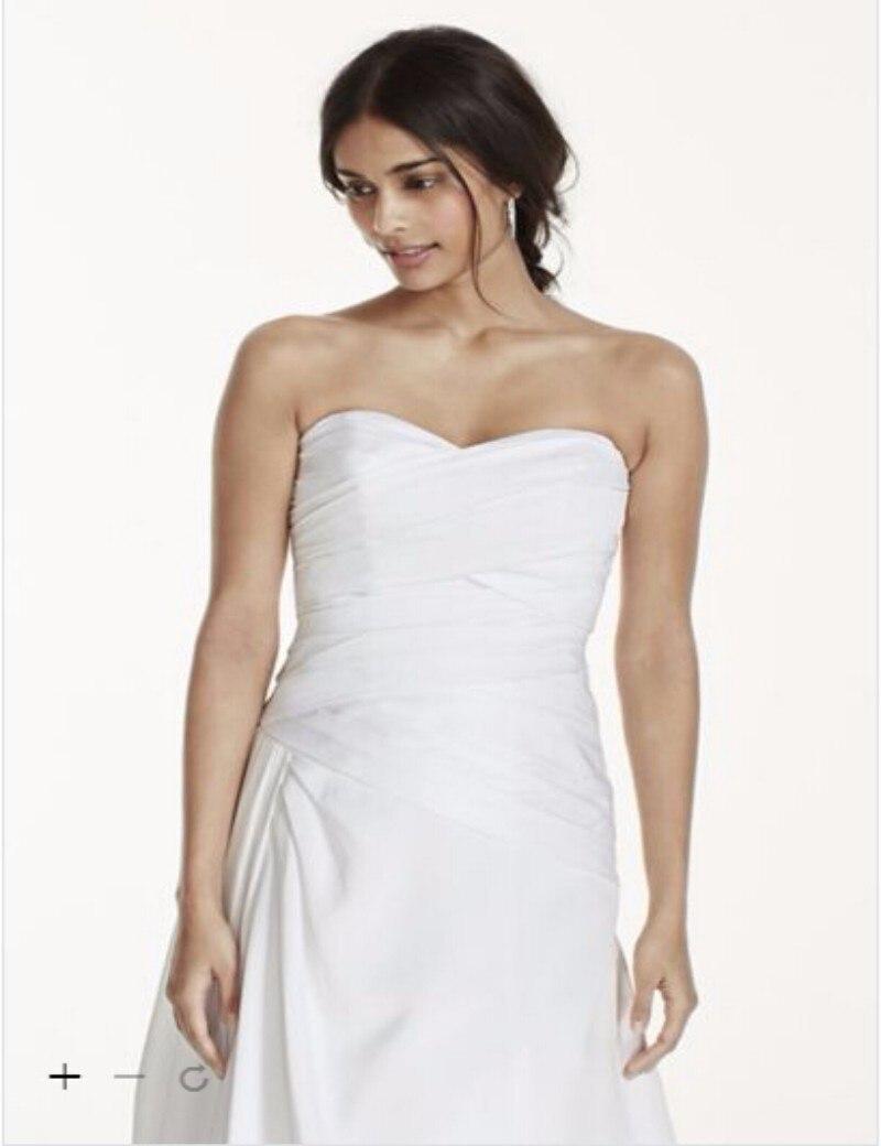 b8b1e34347867 Custom Made 2016 New Free Shipping Strapless A-Line Drop Waist Wedding Gown  Style WG3743 Wedding Dresses