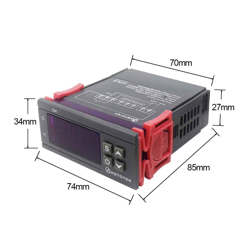 Werkzeuge 10a 220 V Mini Digital Thermostat Hygromstat Luft Temperatur Controller Messbereich 1%-99% Mit Sensor
