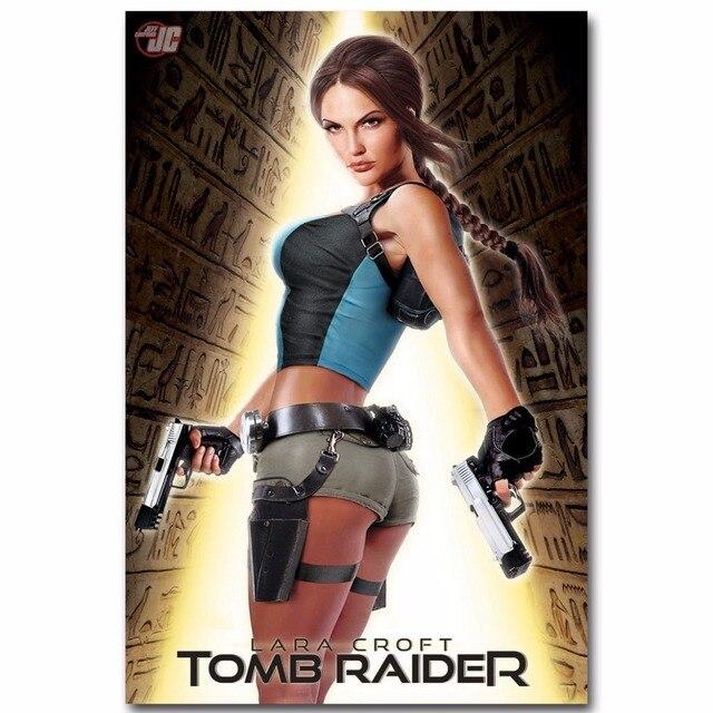 Rise Of The Tomb Raider Art Silk Fabric: J1710 Lara Croft Tomb Raider Movie Pop 14x21 24x36 Inches