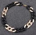 Nuevo en 2015 chunky gold chain necklace/kpop Diseñador de la marca de joyería de moda de lujo para las mujeres al por mayor maxi colar collier/bijoux