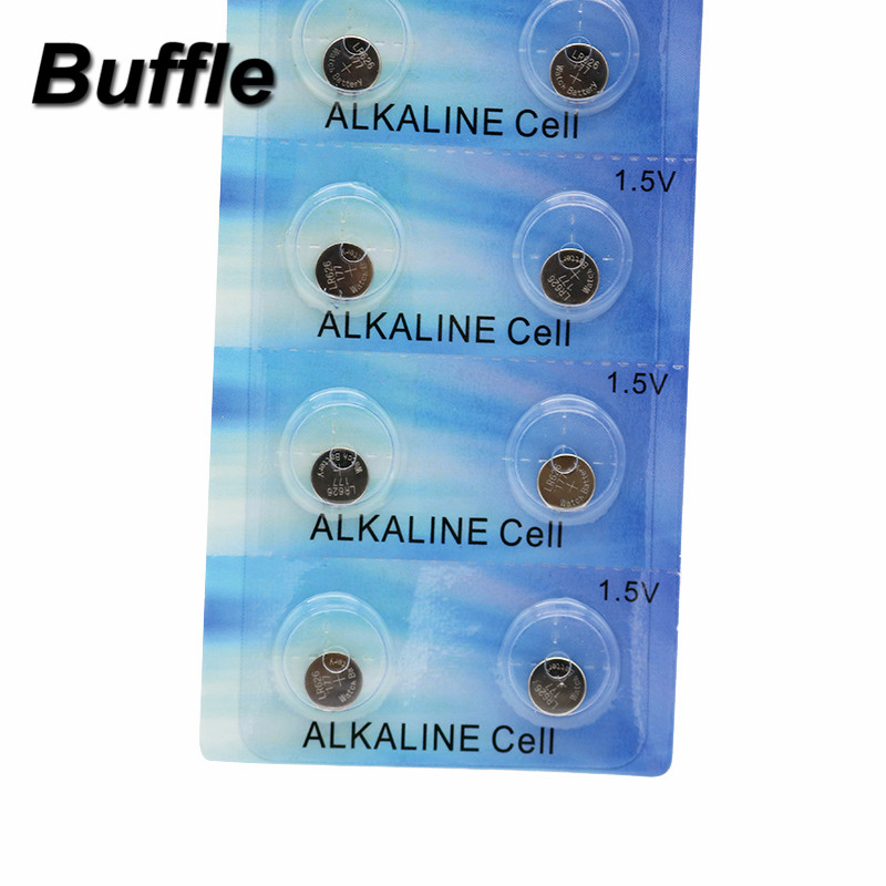 Buffle 10pcs AG4 LR626 377 1 5V Alkaline Button Cell Coin Battery Disposable Batteries For Calculator Toys in Button Cell Batteries from Consumer Electronics
