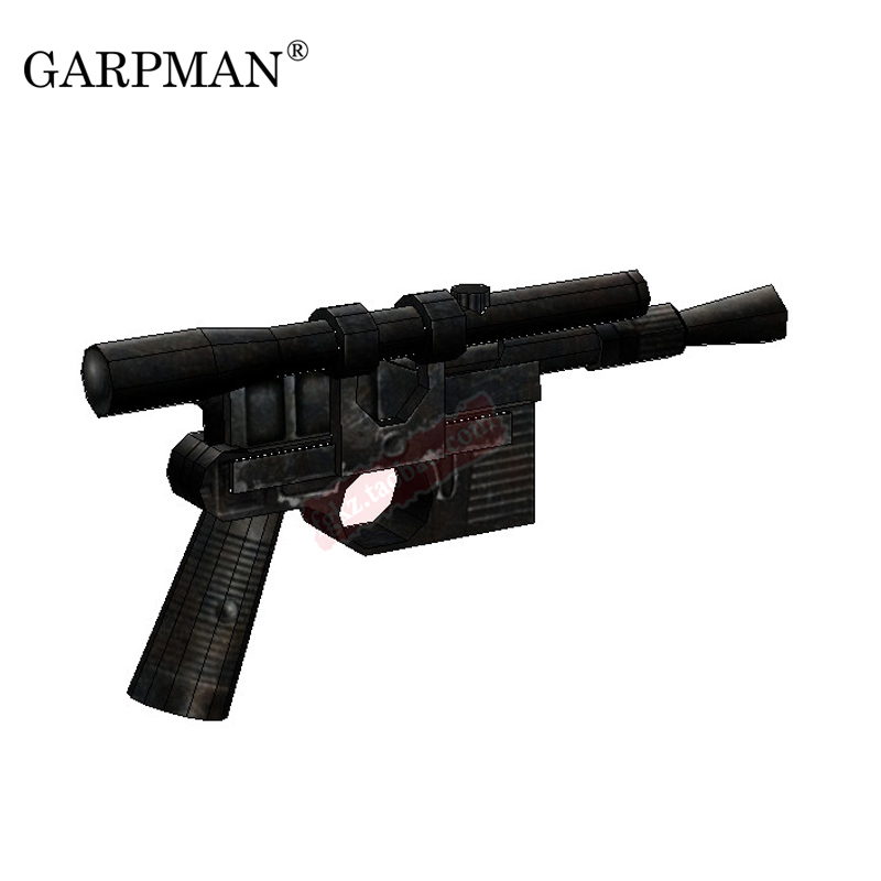 Star Wars 1:1 Handheld DL-44 Blaster Pistol 3D Paper Model Decoration DIY Casual Puzzle Paper Toy