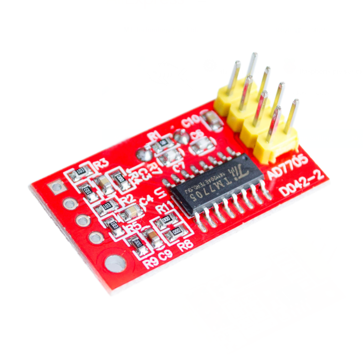 US $1 45 |AD7705 Dual 16 bit ADC Data Acquisition Module Input Gain  Programmable SPI Interface TM7705-in Integrated Circuits from Electronic
