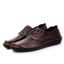 Men Leather Shoes Casual 2015 Spring/Summer Fashion Genuine Leather Flats For Men Designer Shoes Casual Breathable Mens Shoes