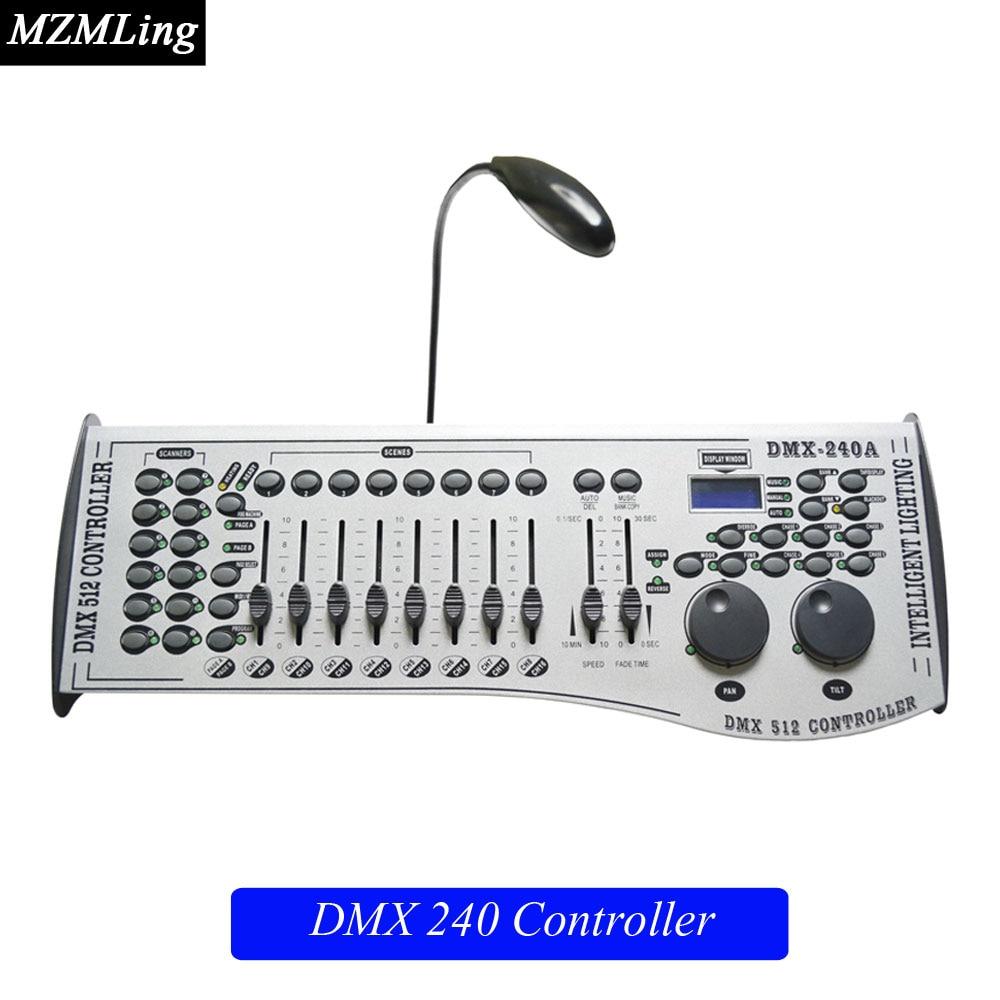 DMX240 Controller & DMX Controller For Stage Light/Moving Head Light/ Beam Light /Par Light /Fog Machine DJ/ Party/ Show Machine 2pcs high quality 512 dmx console stage light equipment 192 dmx controller for stage lighting led par beam lights