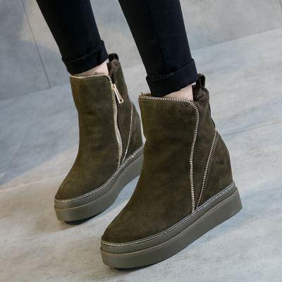 SWYIVY Woman Boots Platform Winter Warm Fur Snow Boots