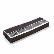 Non-woven Shoe Organizer Box For Closet Shoes Storage Containers With Clear Window Handle Foldable Hanging Case Under bed Bag