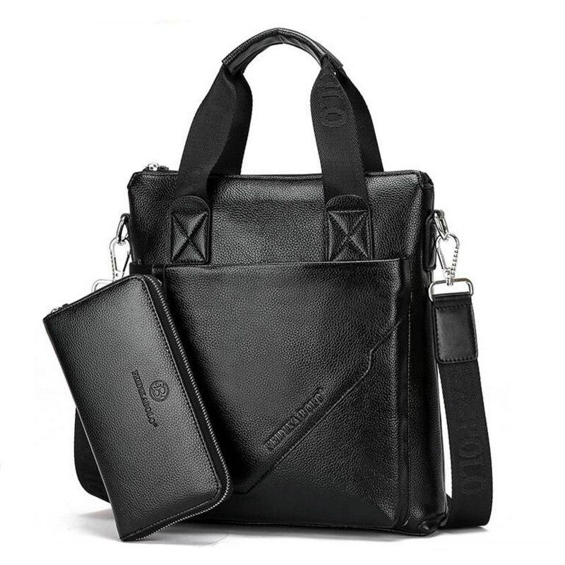Véritable cuir hommes marque de haute qualité hommes d'affaires sacs à main deux couleurs en cuir véritable doux hommes pochette d'ordinateur, livraison gratuite