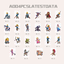 22PCS NTAG215 Game NFC Cards New 4 Hero Data Tag 20 heart Wolf Link For Zelda Breath of the wild NS Switch