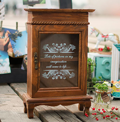 Free shipping Vintage Display Cabinet Home Decoration 32*9.5*20CM