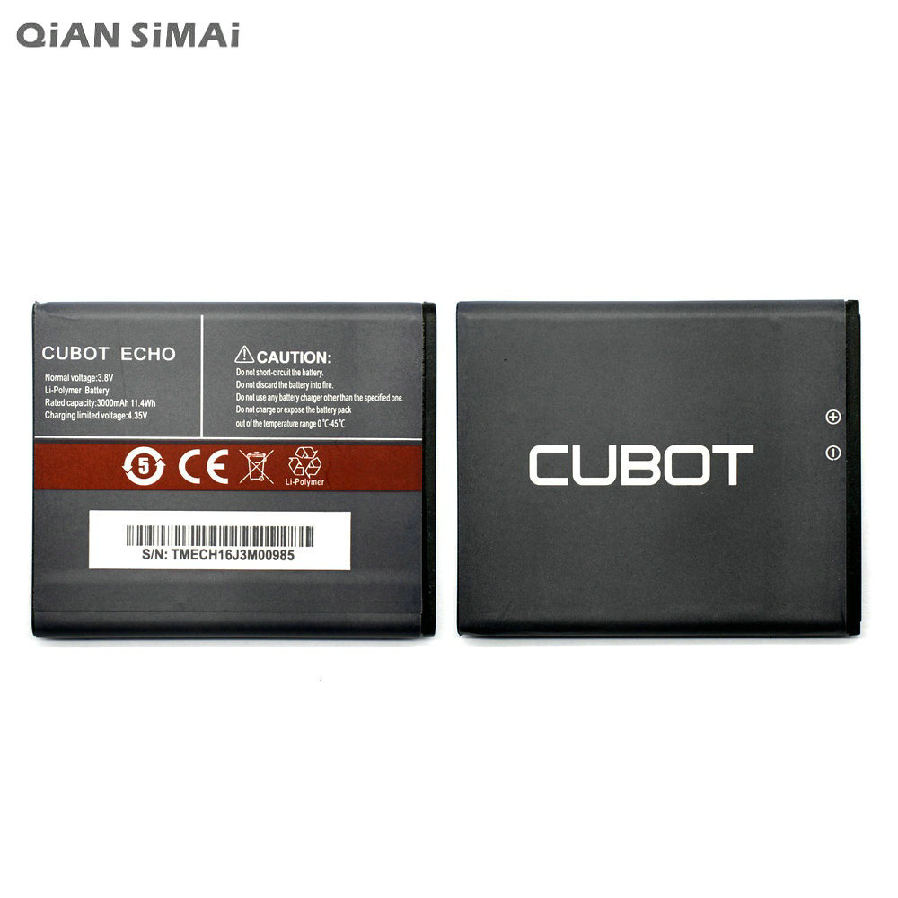 QiAN SiMAi 3000mAh High Quality Battery Rechargeable For Cubot ECHO Mobile Phone Batterie Bateria + Tracking Code