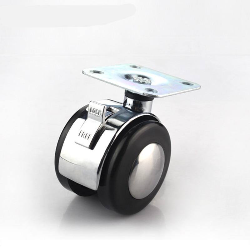 4pcs Furniture Caster Alloy Caster 1 5 Inch Flat Wheels