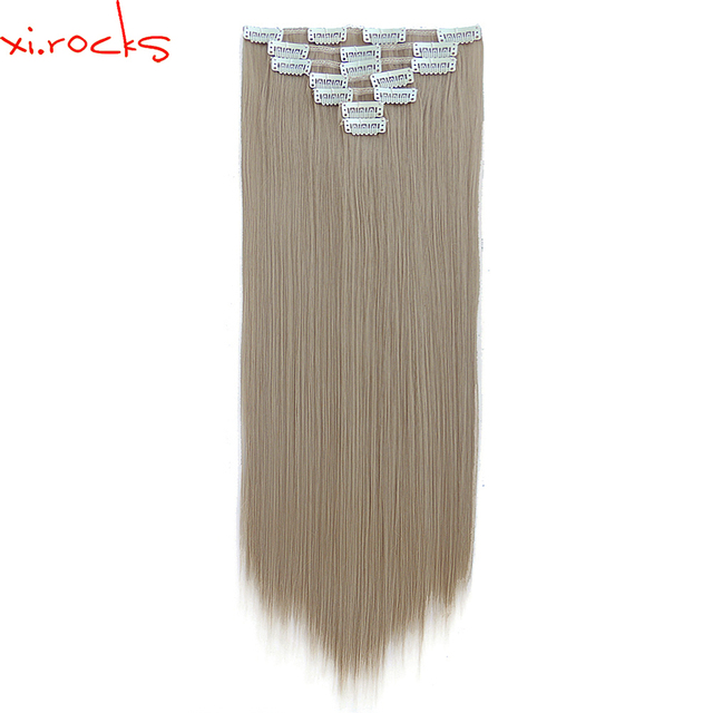 2set 7pcsset Xicks Synthetic Clip In Hair Extension 55cm