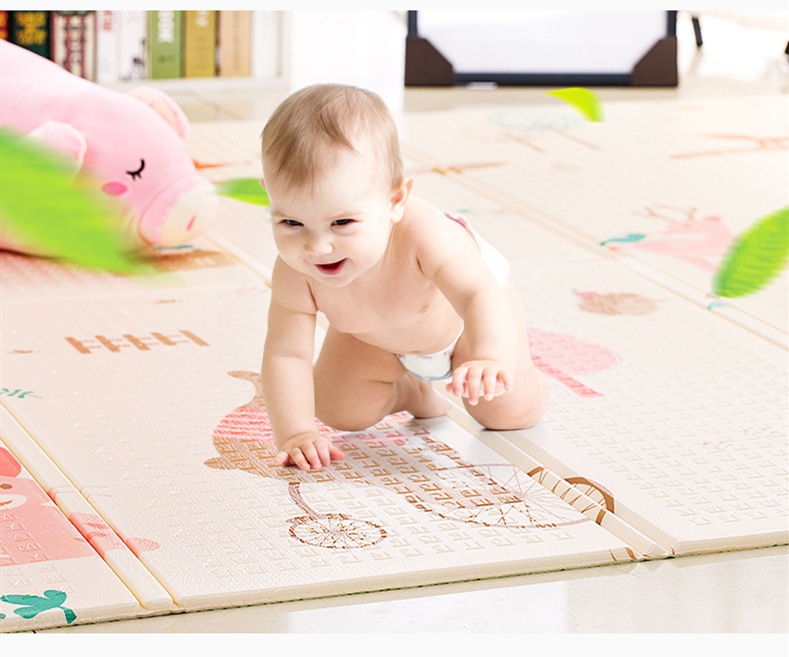 Nouveau tapis de ramper XPe pour enfants tapis de ramper pliant pour bébé tapis de mousse de couverture rampant écologique surdimensionné