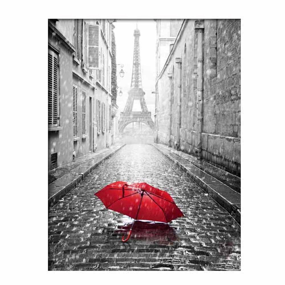 5DTower red umbrella 30*40cm Diamond embroidery Paintings Rhinestone Pasted diy Diamond painting Cross Stitch 2017 new J10