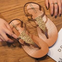 2019 Brand Flat Beach Sandals Women Sandals Ladies Slippers Bohemian Sandles Female Flip Flops Summer Shoes Woman sandales femme 3