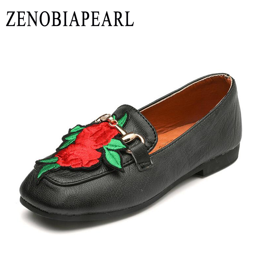 Children School Uniform Shoes Girls Leather Shoes Soft Decal Black Shoes Party Comfortable for Kid Girls Shoes