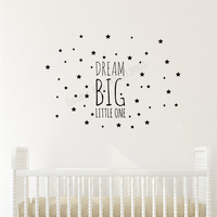Art Home Sticker Star Wall Decorative kids Girls Room Decel Dream Big Little One Poster Mural Removeable Decor Lovely LY26