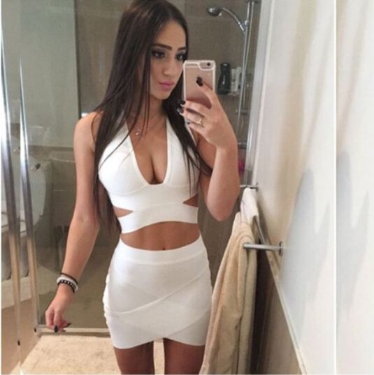406c3b4f90123f 2016 women high quality nude black red white halter v neck bandage crop  tops wholesale dropshipping-in Tank Tops from Women s Clothing on  Aliexpress.com ...