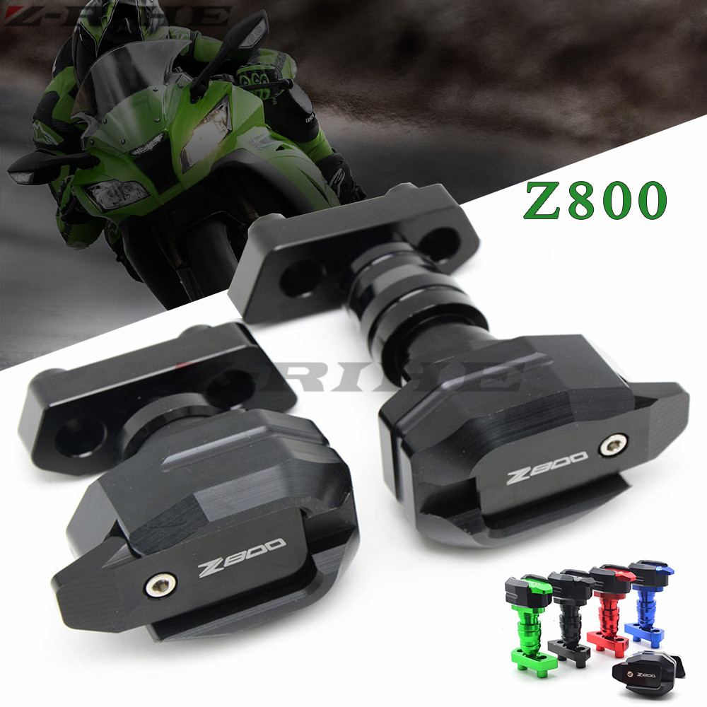 CNC Aluminum Black Left and Right Motorcycle Frame Slider Anti Crash Protector For KAWASAKI Z800 2012-2015 2013 2014
