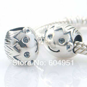 1PCS/lot Fashion 925 Sterling Silver Little Boy Charm Beads Fits European Pandora Style Bracelets Jewelry 2015 new spring 925 sterling silver pumpkin charm with gold and cz bead fits pandora bracelets in stock 1pc lot b520