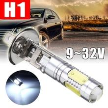 цена на New 1pcs H1 Led Light Bulb Q5 with 4COB LED Car Fog Daytime Running Light Headlight Auto Signal Parking Super White Lamp