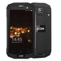A8 5.0 polegada 4G LTE FDD AGM Dual SIM IP68 Robusto Telefone móvel Android 7.0 Quad Core 13.0MP 4050 mAh Bluetooth Suporte NFC OTG