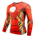 2016 spider-man ironman for captain America compression shirt marvel comics hero soldiers crime long