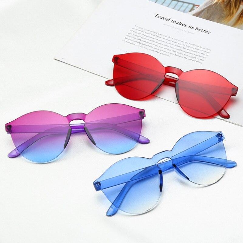 New Fashion Women Flat Sunglasses Luxury Brand Designer Sun glasses Eyewear Candy Color Mirror UV400 oculos de sol