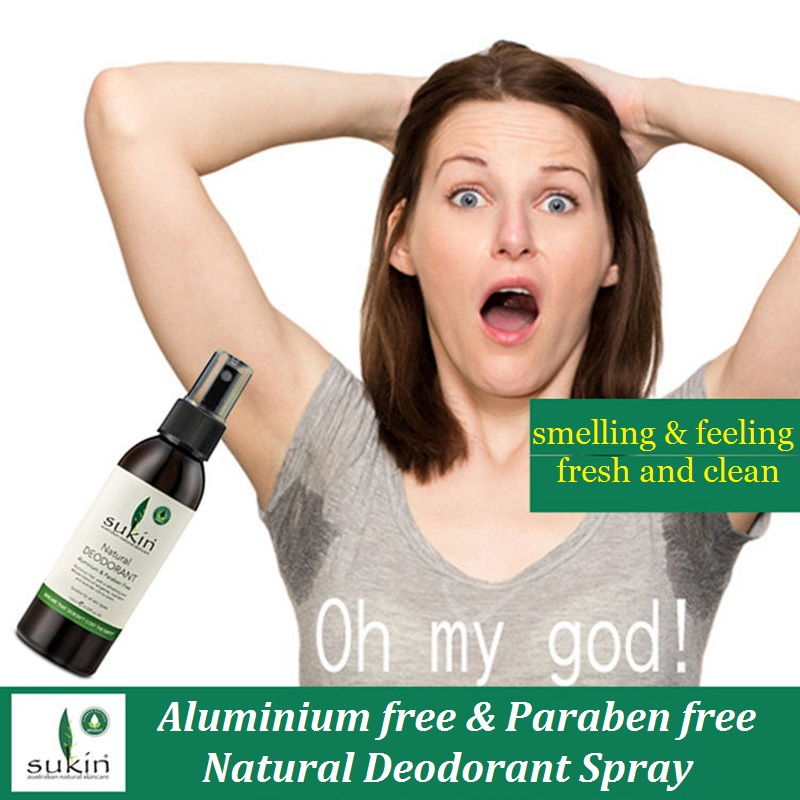Australia Sukin Aluminium Free &Paraben Free Deodorant Spray Organic Natural Effective Leave Smell Fresh &clean Eliminate Odour