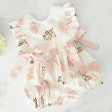 Summer New Kids Baby Girls Sleeveless Tank Lovely Romper Ruffled Jumpsuits Cute Outfit Infant Clothes