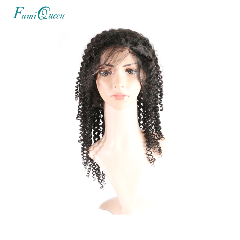 Ali Fumi Queen Hair Products Natural Color Deep Wave Brazilian Remy Hair Lace Front Human Hair Wigs 130% Density Free Shipping
