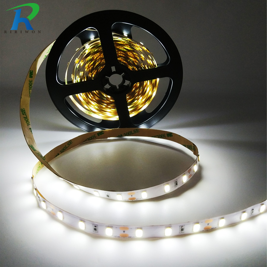 5M LED Strip 3528 5050 SMD DC 12V fita Flexible Waterproof RGB led light strip Diode tape white/warm white/blue/green/red/yellow