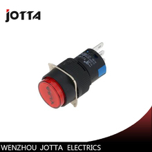 LA16-11BN/Y round  illuminated momentary push button switch