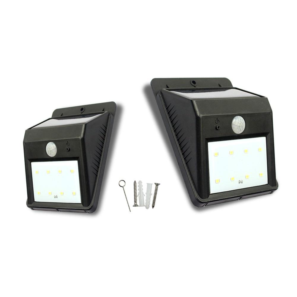 8 LED Solar Lights Outdoor Home Solar Wall Lamp Motion Sensor led ...