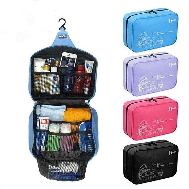 Большая Емкость Портативный висит косметичка организатор бюстгальтер водонепроницаемый путешествия косметический мешок для макияжа туалетные принадлежности хранения сумки