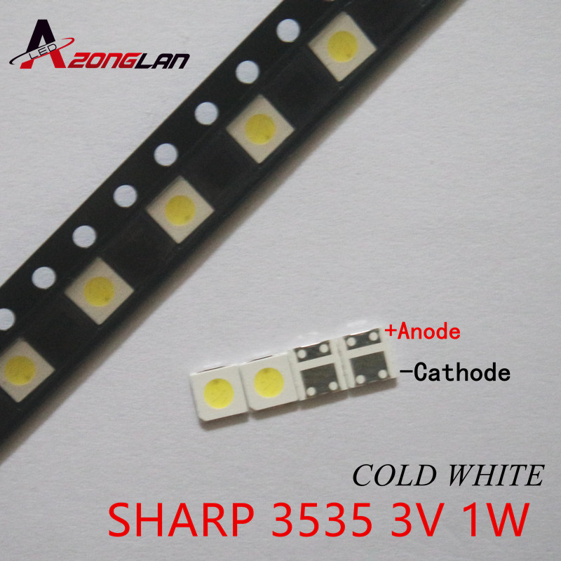 1000pcs For Sharp Led Tv Application Lcd Backlight For Tv Led Backlight 1w 3v 3535 3537 Cool White Gm5f22zh10a Active Components Diodes