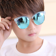 2017 new children's Sunglasses colorful polarizing lens sunglasses brand design 1903 child retail kids sunglasses boys and girls