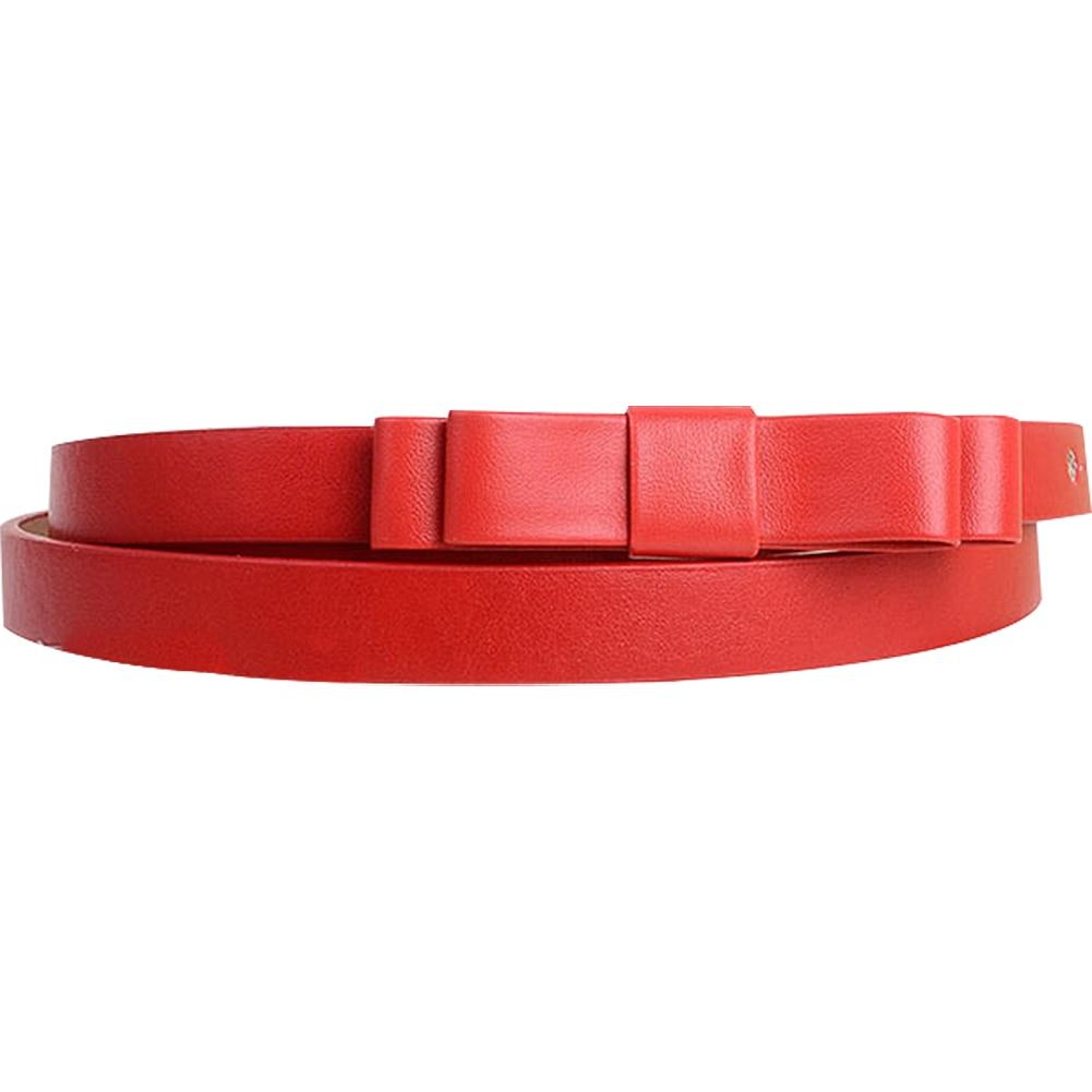 Caliente nuevo rojo del color del caramelo del Sweety y encantador doble  capa bowknot embellish cinturón para mujer 3970b556ed