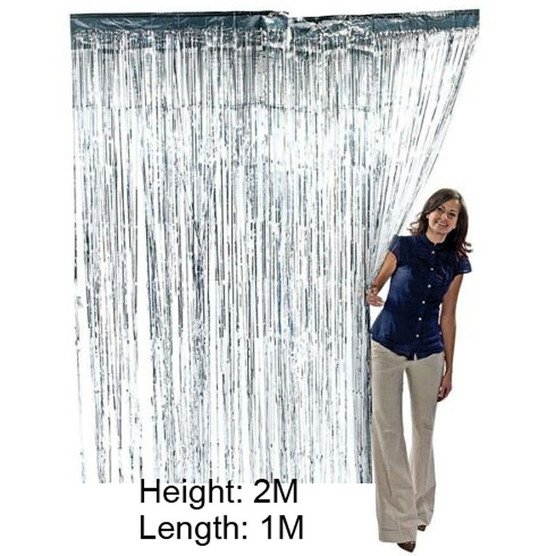 Metallic Foil Fringe Door Window Tinsel Curtains Party Decoration 7 Colors For Choose-in Party Backdrops from Home \u0026 Garden on Aliexpress.com | Alibaba ...  sc 1 st  AliExpress.com & 3 ft. X 8 ft. Metallic Foil Fringe Door Window Tinsel Curtains Party ...