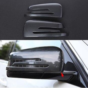 2pcs Door Mirror Cover Trim For Mercedes-Benz C Class W204 2010-2015 & E Class W212 2010-2015 & GLK X204 2009-2015