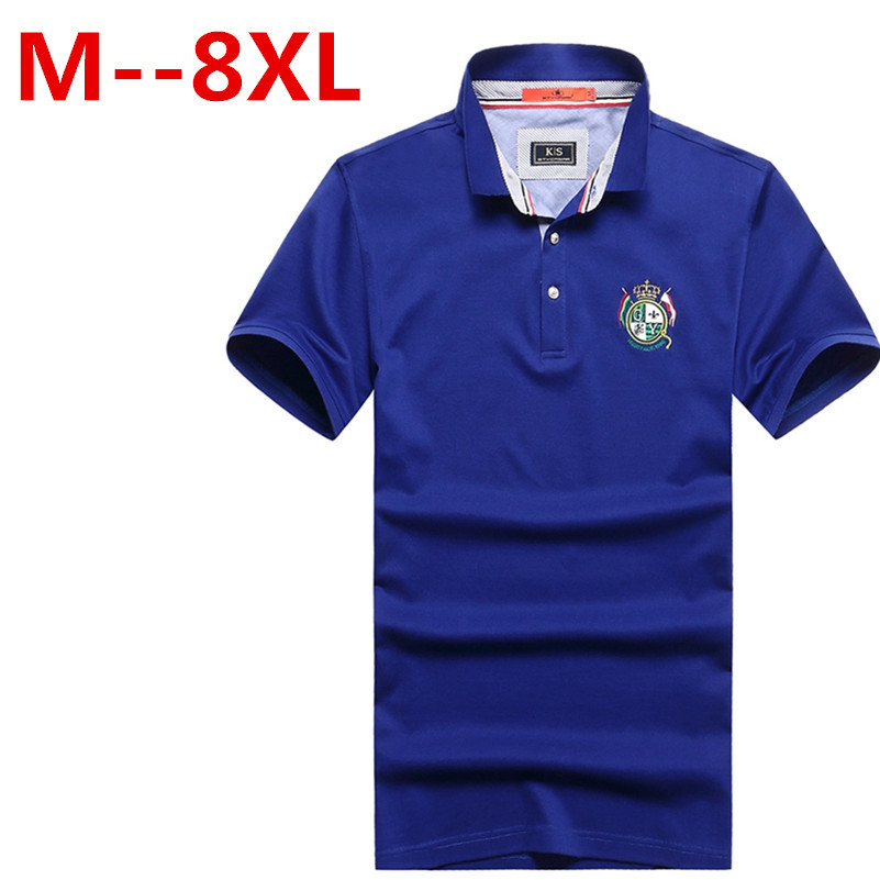 new 8XL 7XL 6XLMen Polo Shirt Solid Casual Polo Homme For Men Tee Shirt Tops High Quality Mercerized Cotton Camisa Polo Slim Fit