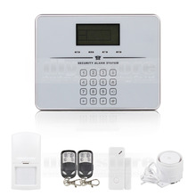 DIYSECUR Touch Keypad Wireless GSM PSTN Intercom Mornitor House Intruder Alarm System Voice Prompt White