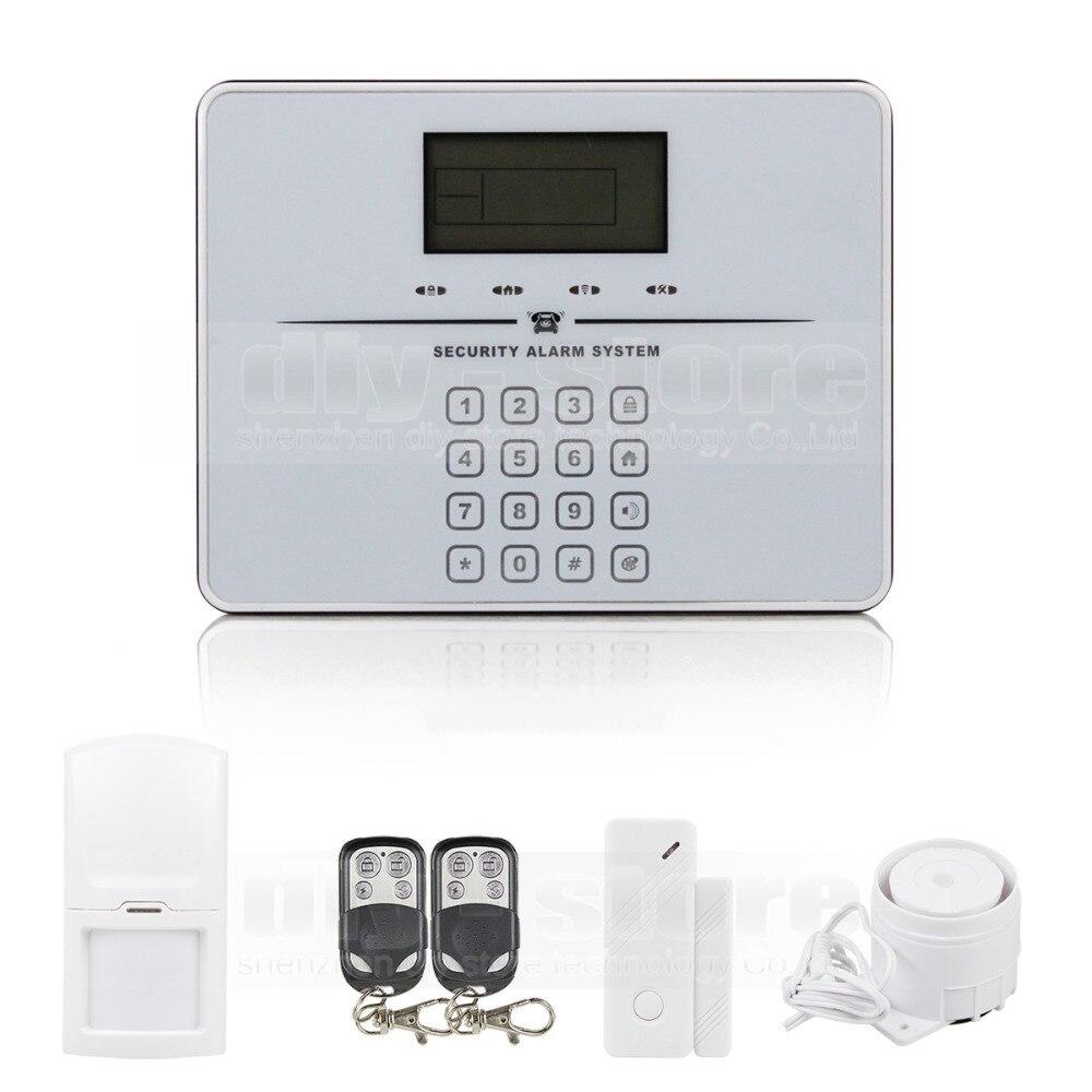 Diysecur сенсорной клавиатурой Беспроводной GSM PSTN Интерком mornitor дом охранной сигнализации Системы голосовые подсказки белый