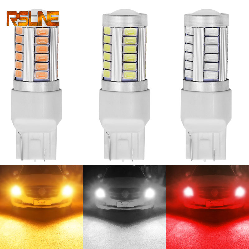 <font><b>T20</b></font> 7443 <font><b>W21</b></font>/<font><b>5W</b></font> 33 SMD 5630 5730 LED Auto Brake Lights 21/<font><b>5w</b></font> Car DRL Driving Lamp Stop Bulbs Turn Signals Red White Amber DC 12V image
